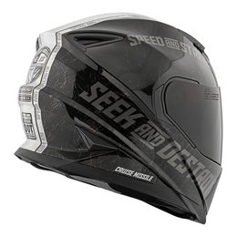 Black, Silver Speed & Strength Ss1600 Cruise Missile Full Face Helmet Black Silver