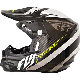 Black, White Fly Racing F2 Carbon Fastback Helmet Black White