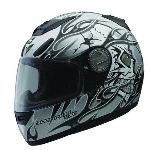 26073e5b $249.95 Scorpion Exo-700 Crackhead Motorcycle Helmet #61224