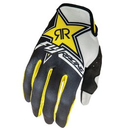 Fly Racing Mens Lite Rockstar Textile Gloves Original Style Yellow