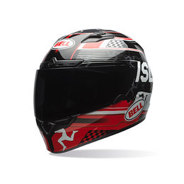 Bell Powersports Qualifier DLX ISLE Of Man DOT ECE Approved Full Face Helmet Black