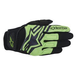 Black, Green Alpinestars Mens Spartan Textile Gloves 2014 Black Green
