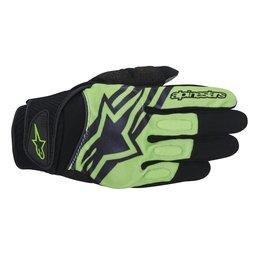 Black, Green Alpinestars Mens Spartan Textile Gloves 2014 Black Green