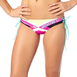Fox Racing Womens Divizion Lace Up Side Tie Bikini Bottom Pink