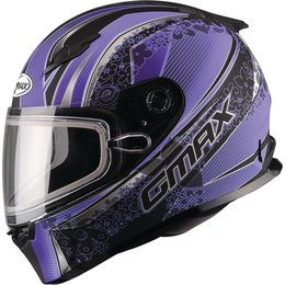 GMAX Womens FF49 Elegance Snowmobile Helmet Black