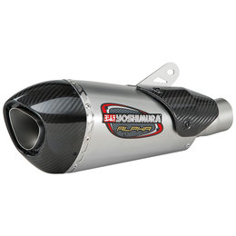 Yoshimura Alpha T Street Works Slip-On Exhaust Triumph 675 Stainless 19675BP520 Unpainted