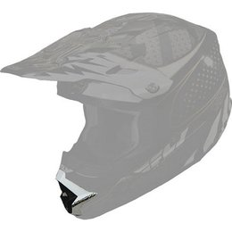 Black, White, Silver Fly Racing Replacement Mouthpiece For Trophy Lite Helmet Black White Silver