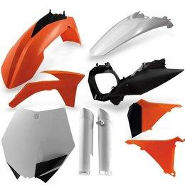 Acerbis Replacement Plastic Kit For KTM SX XC Orange Black White 2205272882 Orange