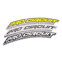 White Pro Circuit Front Fender Decals Standard Size