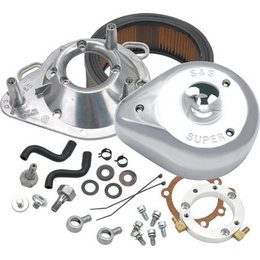 S&S Cycle Air Cleaner Kit Teardrop Chrome For Harley-Davidson FLH/T/R/S