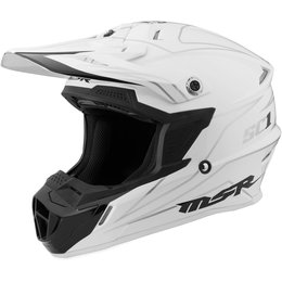 MSR SC1 Pinstripe Motocross MX Riding Helmet White