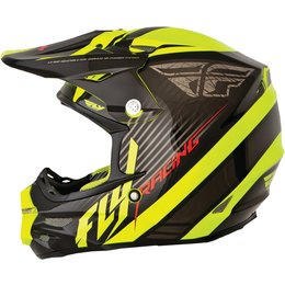 Black, Hi-vis Fly Racing F2 Carbon Fastback Helmet Black Hi-vis