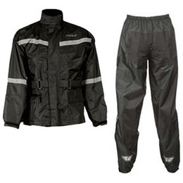 Fly Racing 2 Piece Rain Suit Black