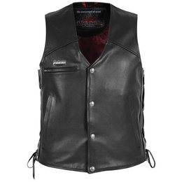 Black Pokerun Cutlass 2.0 Leather Vest