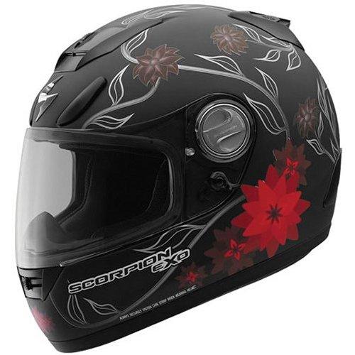 47463d2f $219.95 Scorpion EXO-700 BLACK DAHLIA Full Face Helmet #137512