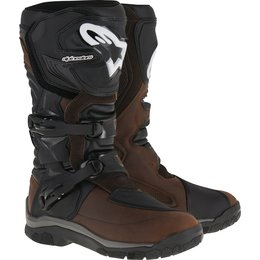 Alpinestars Mens Corozal Adventure Drystar Lined Oiled Leather CE Riding Boots Brown