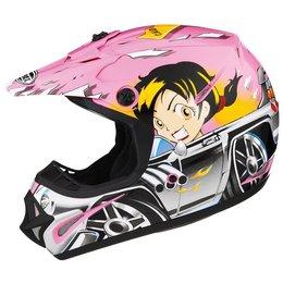 GMax Youth GM46Y-1 Hot Rod Boy MX Helmet Pink