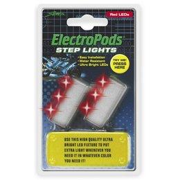 Red/chrome Street Fx Electropods Led Step Lights Red Chrome