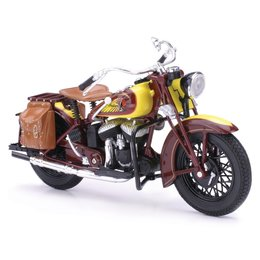 New Ray Toys Indian Sport Scout 1934 Motorcycle Toy 1:12 Scale Brown 42113