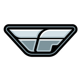 Black Fly Racing F-wing Logo Sticker Decal 7 Inch 100 Pack