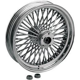 Drag Specialties 16x3.5 Fat Daddy Radially Laced Rear Wheel Harley 0204-0250 Black