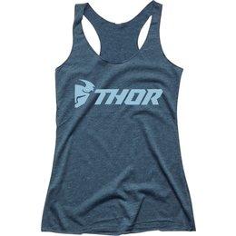 Thor Womens Loud Racer Back Tank Top Blue