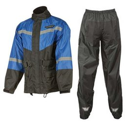 Fly Racing 2 Piece Rain Suit Blue