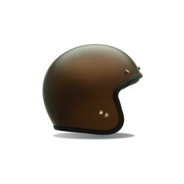 Metallic Brown Bell Powersports Mens Custom 500 Open Face Helmet 2014