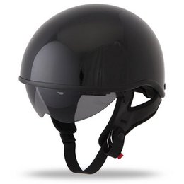 Gloss Black Fly Racing .357 Half Helmet 2013