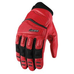 Red Icon Superduty 2 Leather Gloves