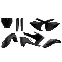 Acerbis Full Plastic Kit For Husqvarna TC125/250 FC250/450 Black 2393460001 Black