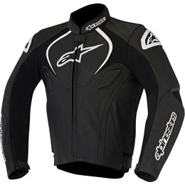 Alpinestars Mens Jaws Armored Leather Riding Jacket Black