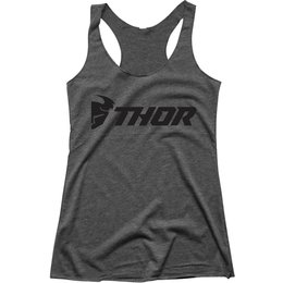 Thor Womens Loud Racer Back Tank Top Grey