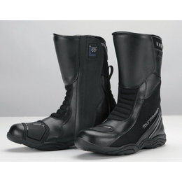 Black Tour Master Womens Solution Air Waterproof Leather Road Boots Us 6.5 Eu 38