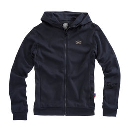 100% Mens Chamber Cotton Blend Zip-Up Hoody Blue