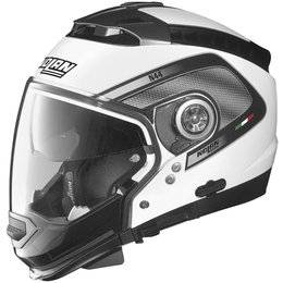 Metal White, Black Nolan Mens N44 Tech Crossover Helmet 2014 Metal White Black
