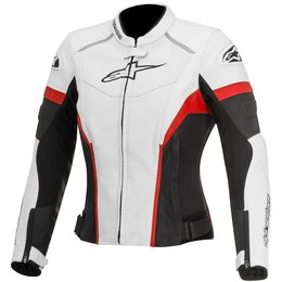 Alpinestars Womens Stella GP Plus R Perforated Armored Leather Jacket White