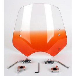 Memphis Shades Shooter Windshield Replacement Orange For Harley Metric