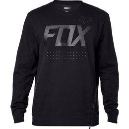 Fox Racing Mens Brawled Tech Crew Neck Pullover Sweatshirt Black