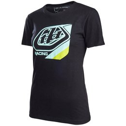 Troy Lee Designs Womens Precision Cotton V-Neck Graphic T-Shirt Black
