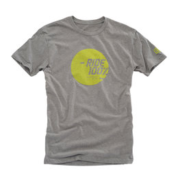 100% Mens Shine Cotton Blend Graphic T-Shirt Grey
