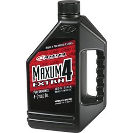 Maxima Extra4 Full Synthetic 4-Cycle Motorcycle Engine Oil 10W-40 1 Liter 16901 Unpainted