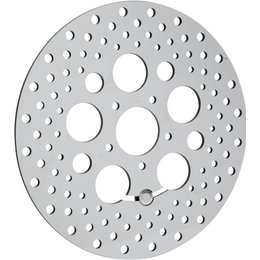 Drag Specialties Drilled One-Piece Front Round Brake Rotor For Harley 1710-1061