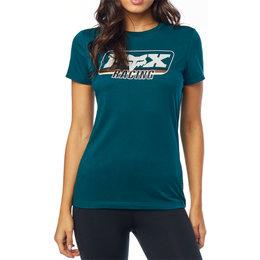 Fox Racing Womens Retro Fox Crew Neck T-Shirt Blue