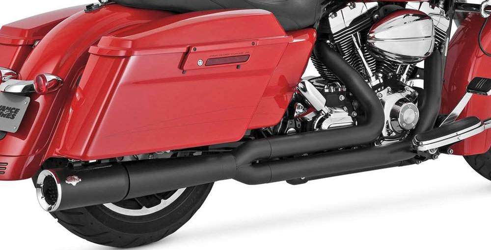 Vance & Hines Pro Pipe 2 Into 1 Full Exhaust System For Harley Touring 47561