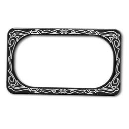 Black Arlen Ness License Plate Frame Engraved For Harley Davidson Victory