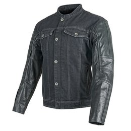 Speed & Strength Mens Band Of Brothers Leather/Denim Jacket 2015 Black