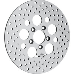 Drag Specialties Polished Finish Round Brake Rotor For Harley Natural 1710-1062