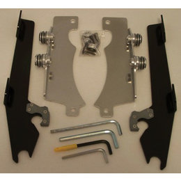 Memphis Shades Batwing Mount Kit Black For Yamaha Raider