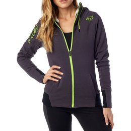 Fox Racing Womens Objective Sherpa Zip Hoody Grey